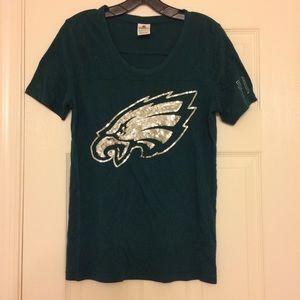 Victoria Secret PINK Philadelphia Eagles NFL Tee